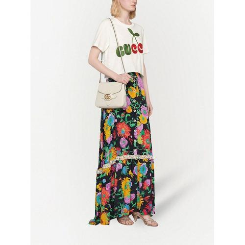 Gucci T-Shirt mit Kirsch-Print