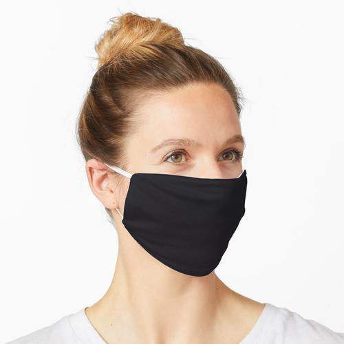 Schwarz in schwarz Maske