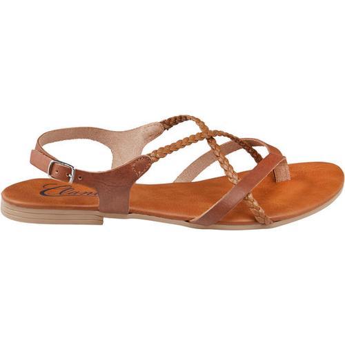 Sandale geflochten, braun, Gr. 41