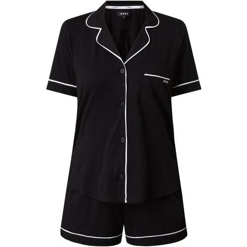 DKNY Pyjama mit Zierpaspeln