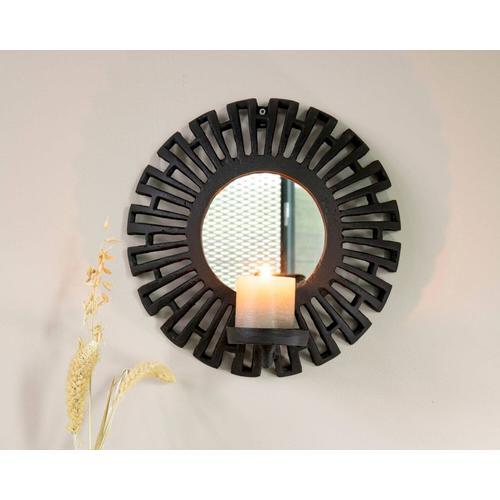 designline »Aztec« Spiegel Kerzenhalter schwarz