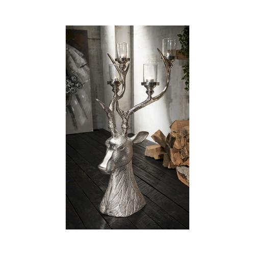 die Faktorei »Hirsch« Deko-Kerzenständer gross 37x85x42cm