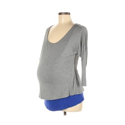 Old Navy 3/4 Sleeve Top Gray Sol...