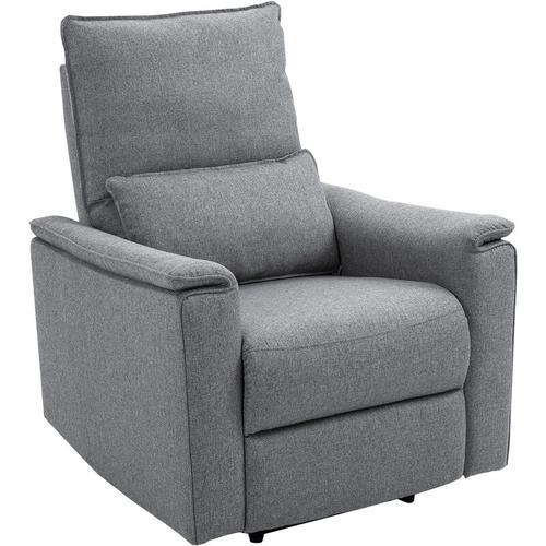 HOMCOM® Relaxsessel Liegesessel TV Sessel Einzelsofa 150° neigbar Leinen-Touch Grau - grau
