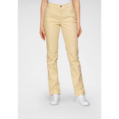 MAC Stretch-Jeans Melanie, Gerade geschnitten gelb Damen High-Waist-Jeans Jeans