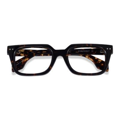 Male's Rectangle Dark Tortoise Acetate Prescription eyeglasses - EyeBuydirect's Kit