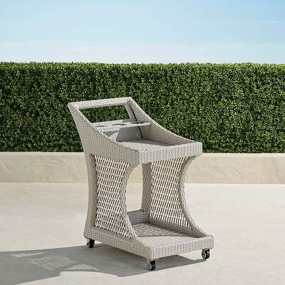 Mila Wicker Bar Cart - Frontgate
