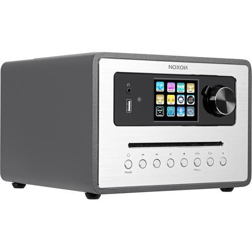 Noxon iRadio 500 CD (FM, DAB+, Internetradio, Bluetooth, WLAN), Radio, Grau