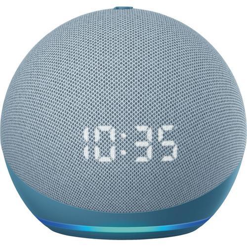 Amazon Echo Dot (4. Gen.) mit Uhr (Amazon Alexa), Smart Speaker, Weiss