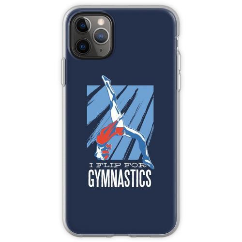 Gymnastik, Turnen, Bodenturnen, Flip, Sport, Frau Flexible Hülle für iPhone 11 Pro Max