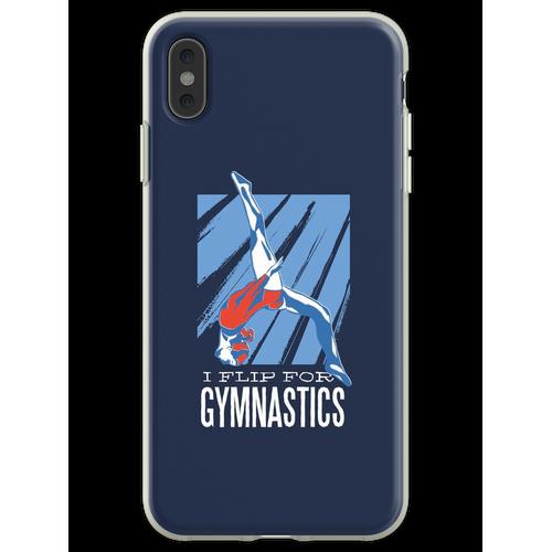 Gymnastik, Turnen, Bodenturnen, Flip, Sport, Frau Flexible Hülle für iPhone XS Max