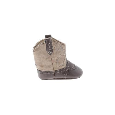 Trimfoot Boots: Brown Solid Shoe...