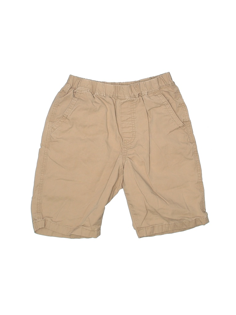 Uniqlo Khaki Shorts: Tan Solid Bottoms - Size 9