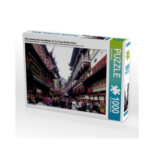 Alte chinesische Architektur im Yu-Yuan-Garten Areal Foto-Puzzle Bild von Renate Bleicher Puzzle