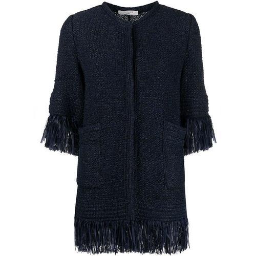 Charlott Ausgefranste Tweed-Jacke