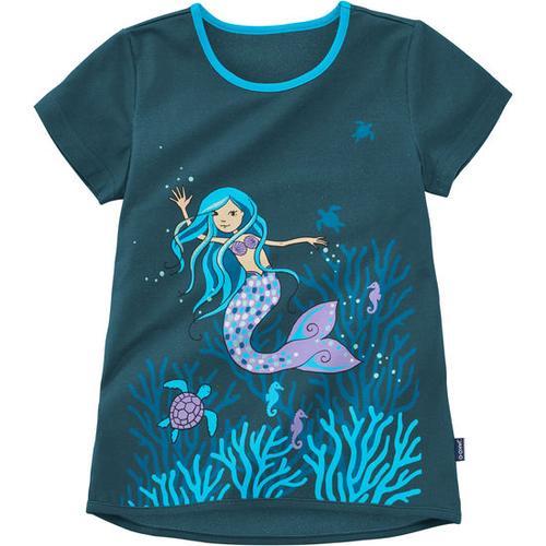 T-Shirt Meerjungfrau, blau, Gr. 116/122