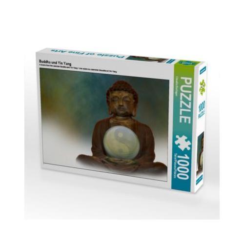 Buddha und Yin Yang Foto-Puzzle Bild von Digital-Art Puzzle