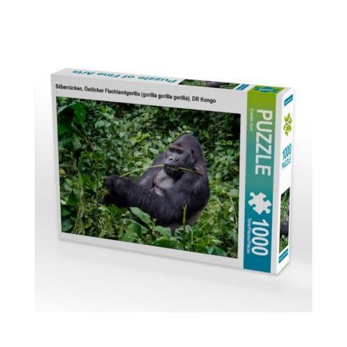 Silberrücken, Östlicher Flachlandgorilla (gorilla gorilla gorilla), DR Kongo Foto-Puzzle Bild von Guenter Guni Puzzle