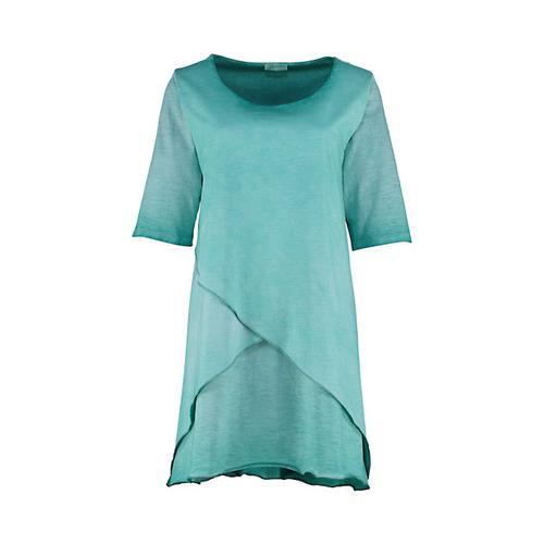 Deerberg Damen Jersey-Tunika Freyer smaragdgrün Bluse