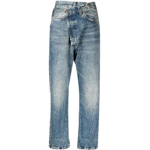 R13 Jeans mit asymmetrischem Bund
