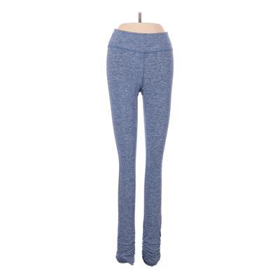 Beyond Yoga Yoga Pants - Low Rise: Blue Activewear - Size 2X-Small