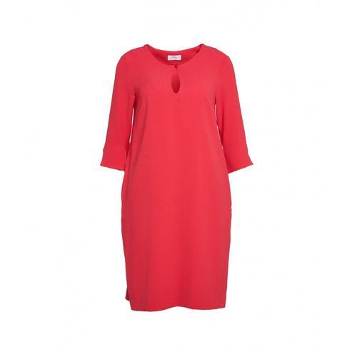 Ottod ame Damen Kleid mit Tropfenauschnitt Rot
