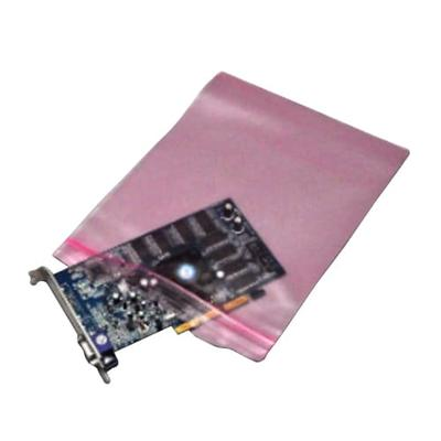 """LK Packaging FASST40810 Resealable Anti Static Bag for Electronic Components - 8"""" x 10"""", LDPE, Pink"""