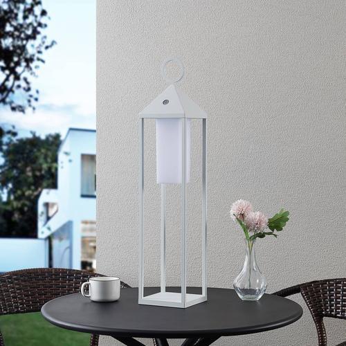 Lucande Miluma LED-Außenlaterne, 64 cm, weiß
