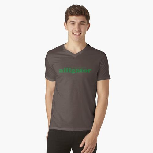 Alligator Logo - Alligator Grün t-shirt:vneck