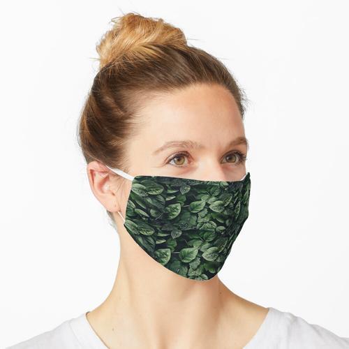 Grüne Blattpflanze Maske
