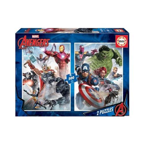 Marvel Mania Puzzle, 2x500 Teile