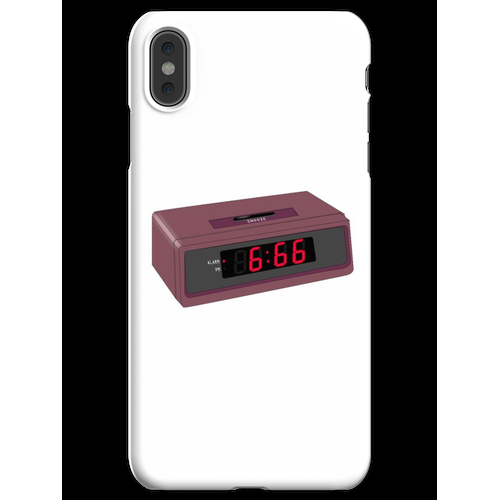 6:66 Teufel Wecker iPhone XS Max Handyhülle
