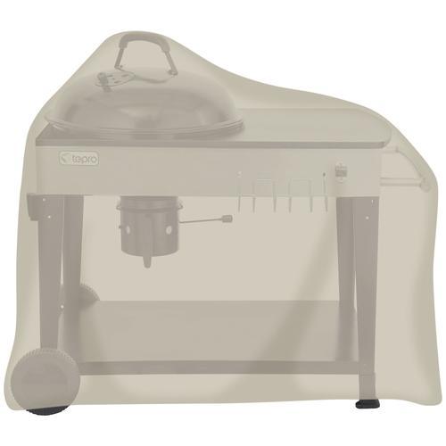 Tepro Grill-Schutzhülle, BxLxH: 120x75x110 cm, für Kugelgrillwagen beige Zubehör Grills Garten Balkon Grill-Schutzhülle