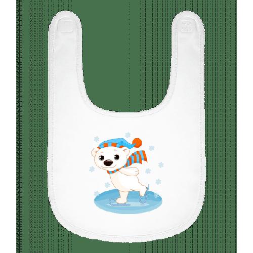 Bär Läuft Schlittschuh - Baby Lätzchen