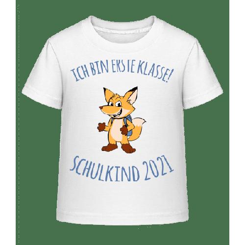 Kleiner Fuchs Mit Schulranzen 2021 - Kinder Shirtinator T-Shirt