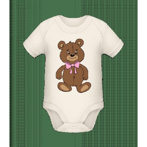 Teddybär Mit Schleife - Baby Bio Strampler
