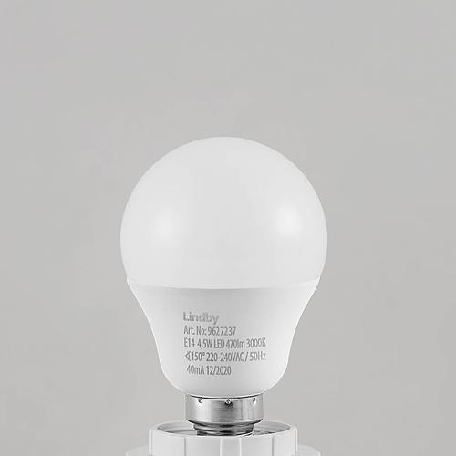 Lindby LED-Tropfenlampe E14 G45 4,5W 3.000K opal