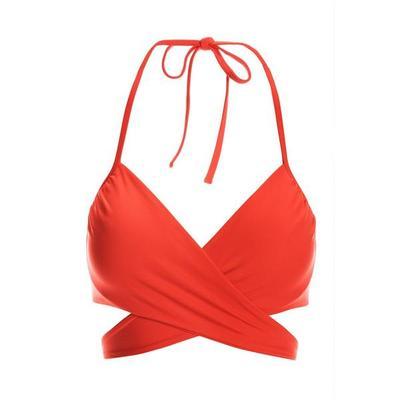 Boston Proper - Swim Sense Underwire Wrap Bikini Top - Scarlet - Medium