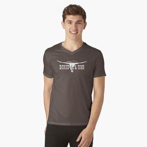 Gebohrtes u. Dummes T-Shirt t-shirt:vneck