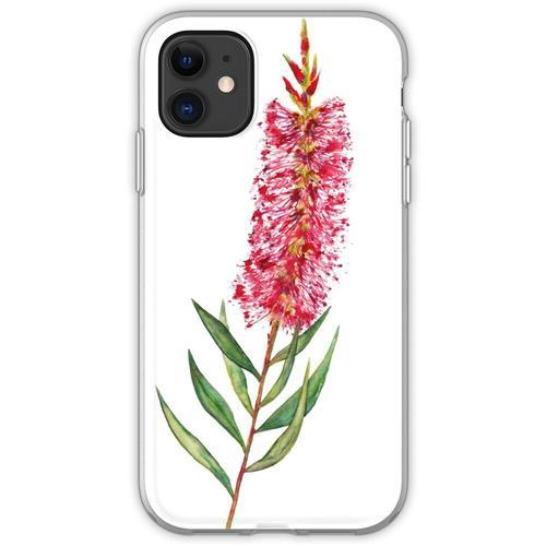 Australische Zylinderputzer-Blume Flexible Hülle für iPhone 11
