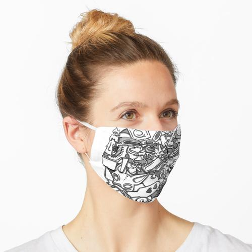 Fetisch Doodle Maske