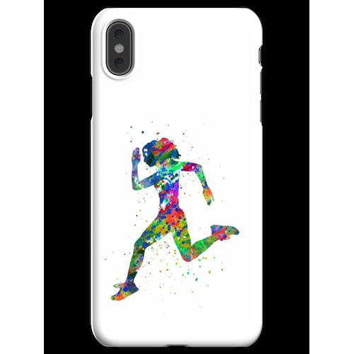 Laufende Frau, Jogger, Sport joggen iPhone XS Max Handyhülle