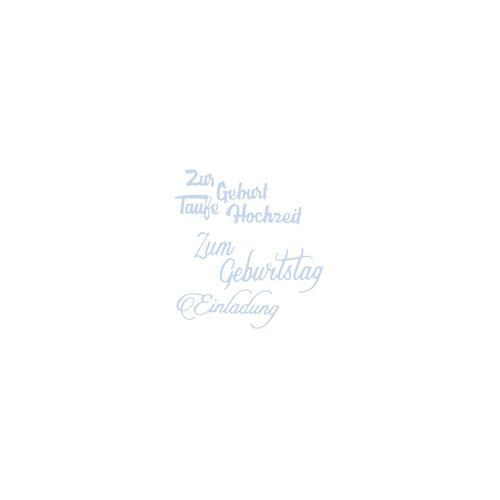 Stanzschablonen-Set Schriftzüge II, 3 Stück