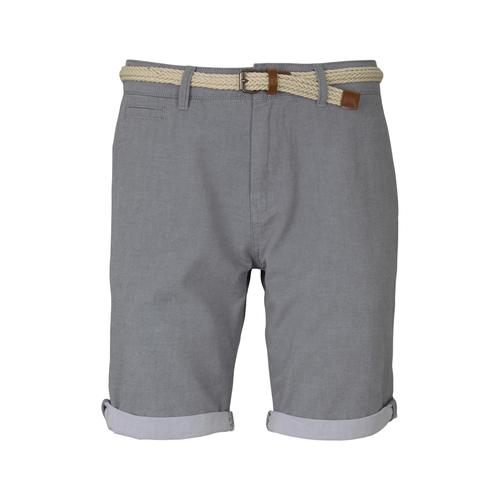TOM TAILOR DENIM Herren Chino Shorts mit Gürtel , grau, Gr.S