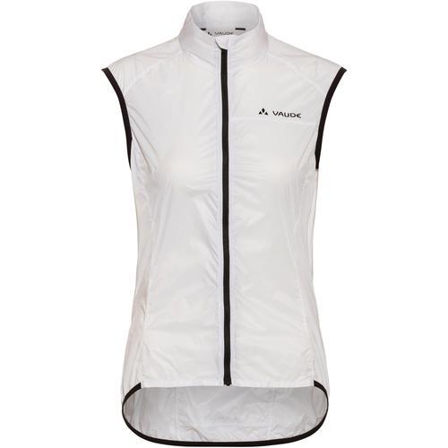 VAUDE Women's Air Vest III Fahrradweste Damen in white uni, Größe 42