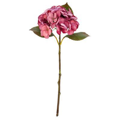 Hortensia artificielle, rose, 45 cm