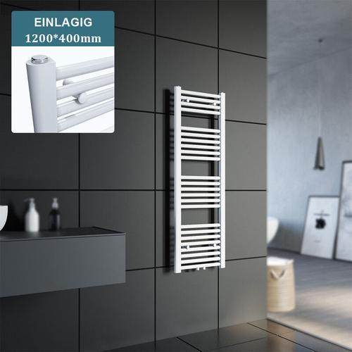 Sonni - Badheizkörper Handtuchheizkörper Handtuchwärmer Handtuchtrockner 1200x400mm Weiß