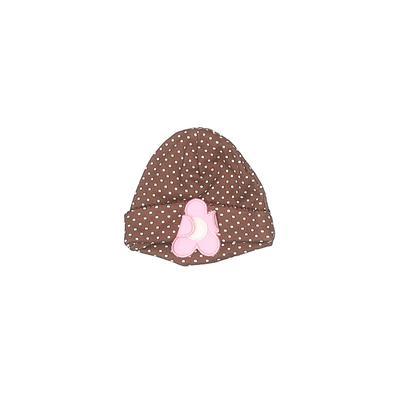Gerber Beanie Hat: Brown Polka D...