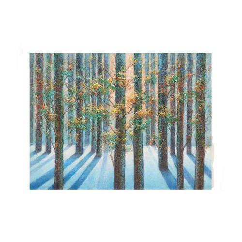 La Casa Ölbild »Sonnenaufgang im Wald« 120x90 cm 212023