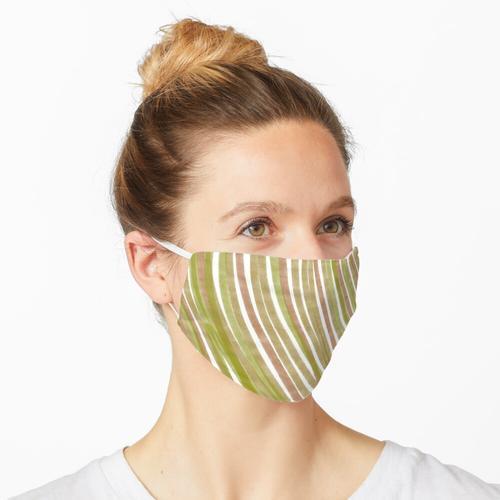 Johannisbrotbaum und grüne Streifen Maske